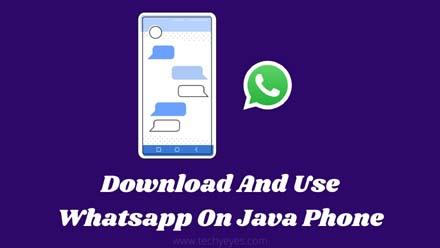 Use Whatsapp On Java Phone