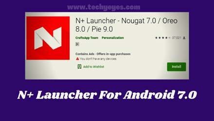 N+ Launcher For Android
