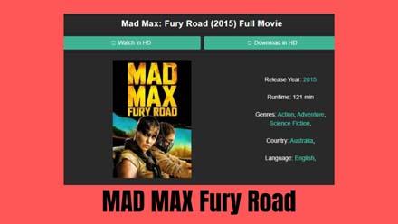 MAD MAX Fury Road Full Movie