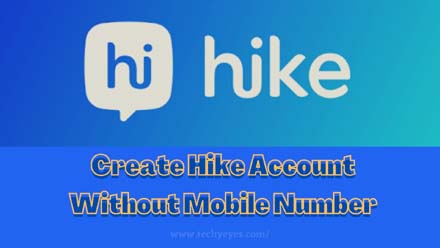 Hike Account Without Mobile Number