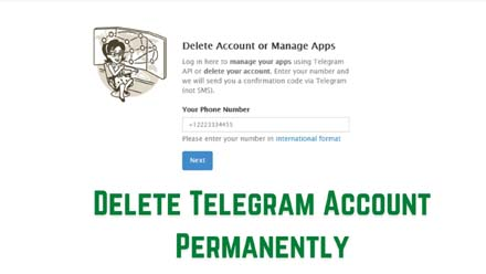 Delete Telegram Account Permanently