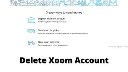 Delete Xoom Account