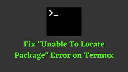 Unable To Locate Package