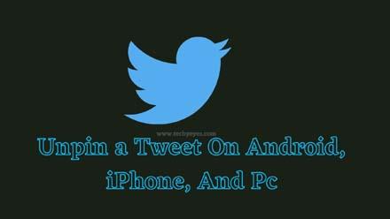 Unpin a Tweet