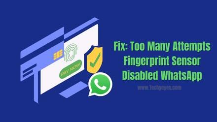 Fingerprint Sensor Disabled WhatsApp