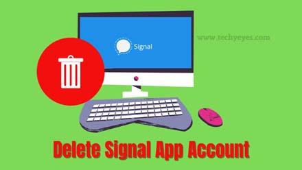 Delete Signal App Account