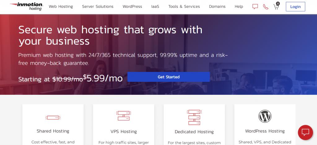 InMotion Hosting hosting provider