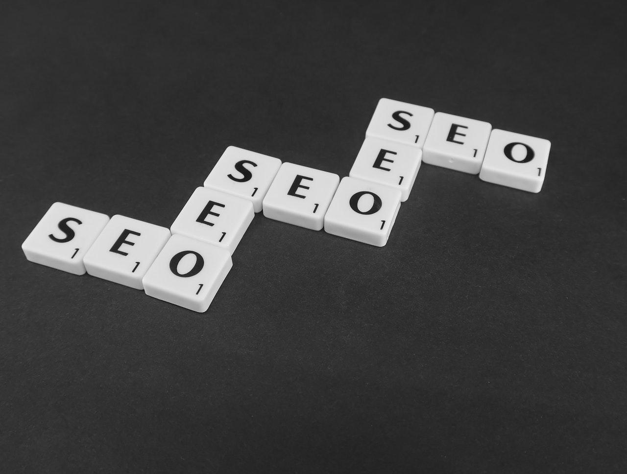 Search engine optimization written in scrabble letters